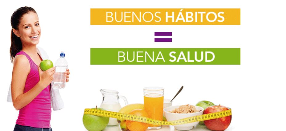 Buenos hábitos igual a salud