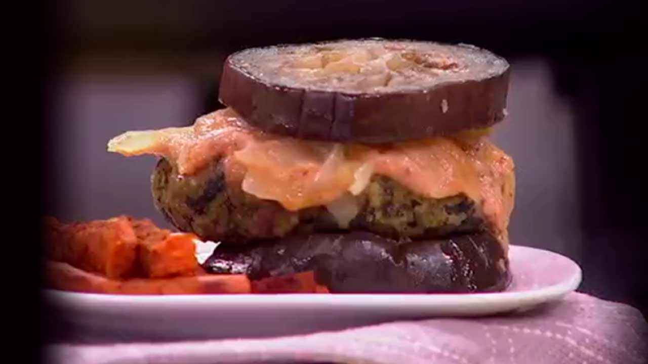 Receta de hamburguesas veganas verdes